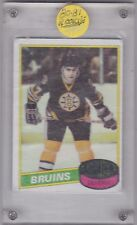 1980-81 TOPPS HOCKEY RAY BOURQUE ROOKIE CARD UNSCRATCHED #140 BRUINS
