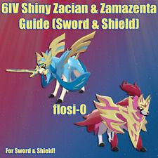 6IV Ultra Shiny Zacian & Zamazenta Pokemon Sword and Shield (Square Shiny)