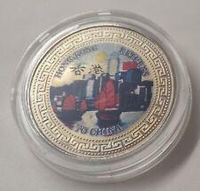 Hong Kong Returns to China One Dollar Coloured Coin 1997 British Trade Dollar