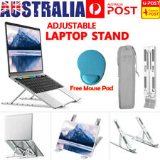 Portable Adjustable Laptop Stand Foldable Desktop Tripod Tray Anti-skid Pad AU