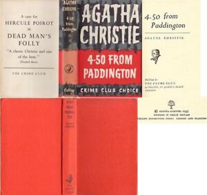 Agatha Christie  4:50 FROM PADDINGTON  1st w/ ORIGINAL dj 1957 Crime Club Marple