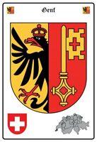 Genf Schweiz Wappen Blechschild Schild gewölbt Metal Tin Sign 20 x 30 cm