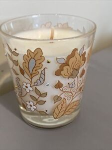 Jay Strongwater Floral Vine Crystal Candle. Made In Portugal. 5.3 oz