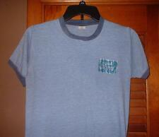 True Vintage 1970's Ford Iron on ringer T shirt Blue Small groovy hip