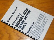 MARLIN GLENFIELD Model 30A LEVER ACTION Rifle OWNERS MANUAL