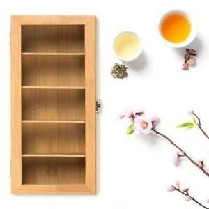 BAMBOO WOOD TEA BOX Wooden Storage Teabox Tea Bag Teabag Holder Chest
