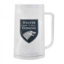 OFFICIAL GLASS FREEZABLE TANKARD GAME OF THRONES WINTER IS COMING MUG BOXED