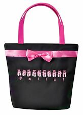 NWT horizon Dance Diva square Tote Dance Bag Zipper black 7024