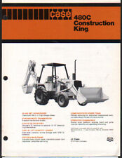 "CASE ""480C"" Construction King Backhoe Loader Brochure Leaflet"