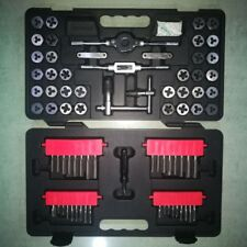 Tap and Die Set 75 Piece Metric Tungsten Steel Titanium Sae and Metric Tools