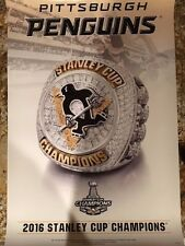 Pittsburgh Penguins Championship Hockey Ring Poster - 2016 from Jostens