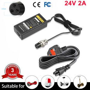Battery charger E-scooter 3 pin 24 volt (STD) ,Razor E100, E200, E300, X250