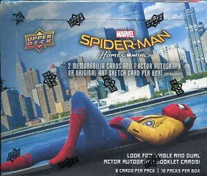 Spiderman Homecoming Factory Sealed Hobby Box
