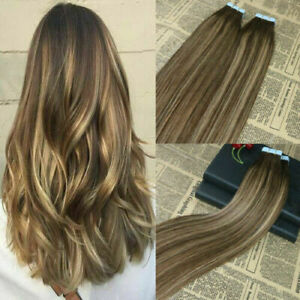 12A RUSSIAN TAPE IN HAIR Extensions 2#/27#/2# BALAYAGE OMBRE 40Pcs 100g STRAIGHT
