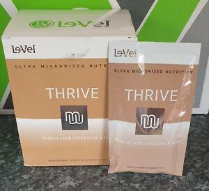 UK STOCK-Le-vel Thrive - Sealed premium Chocolate lifestyle Mix Shakes