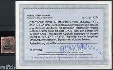 DP Marokko 50 C. Reichspost 1900 mit Plattenfehler Befund (S8024)