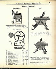 1908 ADVERT Imperial Rotary KC Washing Machine Parts Repair List