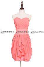 New Short Chiffon Party Cocktail Mini Dress Bridesmaid Gowns 15 Color Plus Size