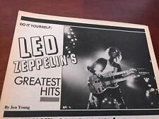 1982 Vintage 4Pg Magazine Print Article On Band Led Zeppelin'S Greatest Hits