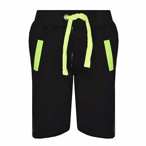 Kids Shorts Boys Girls Fleece Chino Shorts Knee Length Half Pant Age 5-13 Years