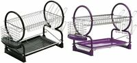 2 Tier Dish Drainer with Glass & Utensils Holder | Removable Tray