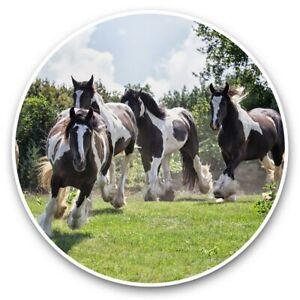 2 x Vinyl Stickers 10cm - Gypsy Vanner Horse Herd  #45272
