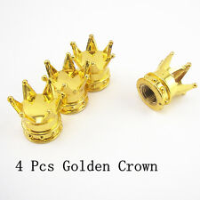 4 Pcs Auto Truck Tire Air Valve Stem Golden Crown Covers Wheel Rims For Hyundai