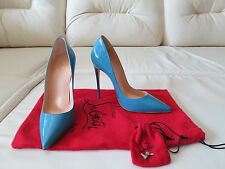 NEW Christian Louboutin So Kate 120 Blue Patent Pumps Heels Sz 37 6.5 Pigalle
