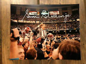 Gene Stallings Signed Autographed Auto 8x10 Photo Alabama