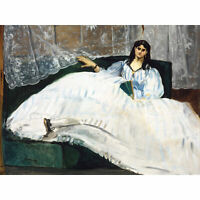 Edouard Manet Woman With A Fan Extra Large Art Poster