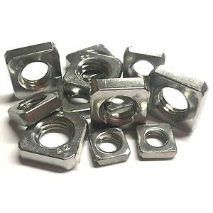 M2.5 M3 M4 M5 M6 M8 M10 THIN Square Nuts - A2 Stainless Steel - Type DIN 562