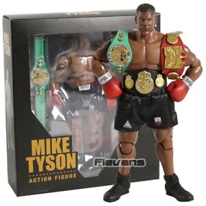 Boxing Champion Mike Tyson 1/12 Scale PVC Action Figure Figurine Model Toy Box