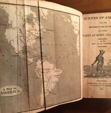 Rare 1824 Scenes In America With Fold Out Map; Native Americans; Washington