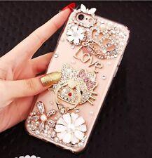 Lujo Bling Diamante Cristal Soporte Soporte Funda cubierta para iPhone XS Max XR 6 7 8+