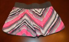NIKE Dri-Fit Shorts Pink Gray Striped Pink Girls Size S EUC