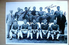 1963 Manchester United Team Photograph Hand Signed by 10 Players (Original)