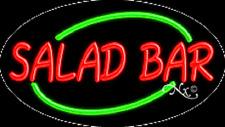 "BRAND NEW ""SALAD BAR"" 30x17 OVAL SOLID/FLASHING NEON SIGN w/CUSTOM OPTIONS14124"
