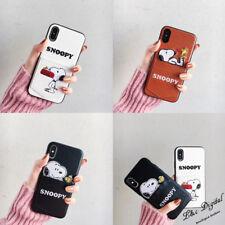 Bolsillo de Tarjeta de Snoopy Lindo TPU Cuero Estuche Cubierta para iPhone XS Max XR 8 7 X 6 Plus