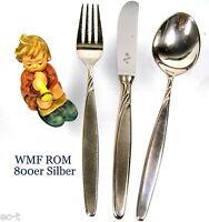 WMF ROM - 800er Silber - Besteckset für 1 Person - Krone Halbmond Silber 800