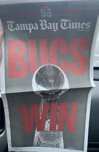 TAMPA BAY Times Newspaper SUPER BOWL Special Section Or Compl. Paper-2-10-2021