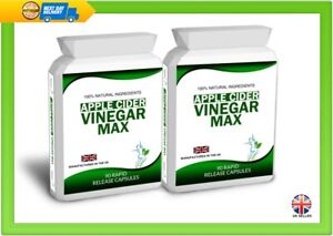 Apple Cider Vinegar 180 Capsules Pills Weight Loss Aid 1000mg Daily Dose