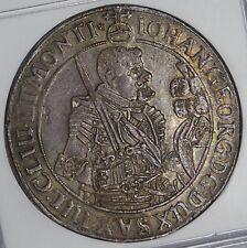 Saxony 1645 Johann George Silver Thaler NGC MS62
