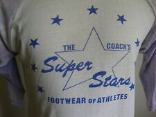 Vtg 80's The Coach's Super Stars Footwear Of Athletes Long Sleeve T Shirt Size M