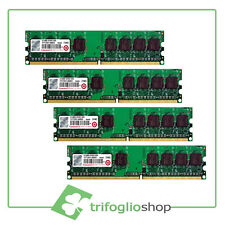 TRANSCEND RAM 4Gb (4x1Gb) PC2-6400U DDR2-800Mhz 240pin Memoria x DESKTOP No Ecc