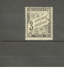"FRANCE STAMP TIMBRE TAXE N° 12 ""TYPE DUVAL 3c NOIR"" NEUF xx TB"