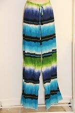 NWT Tommy Bahama Swimsuit Cover Up Drawstring Long Hazy Ikat Stripe Pants Sz M