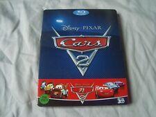CARS 2 PIXAR Blu-Ray 3D SteelBook *SUPER*RARE* & OOP THREE blu-ray discs