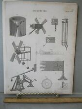 Vintage Print,ANEMOMETER,Pl 28,Edinburgh Encyc.c1800
