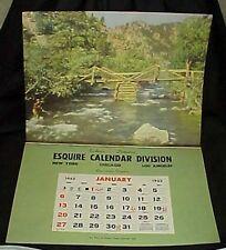 1952 Esquire Calendar Division Salesman Sample Calendar Fishing in Big Thompson