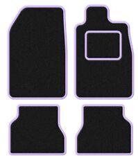 PEUGEOT 207 CC 07-VELOURS Noir / Violet Ensemble tapis de voiture trim
